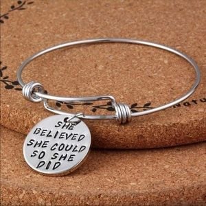 Jewelry - 💕PRICE DROP💕 She believed she could Bracelet
